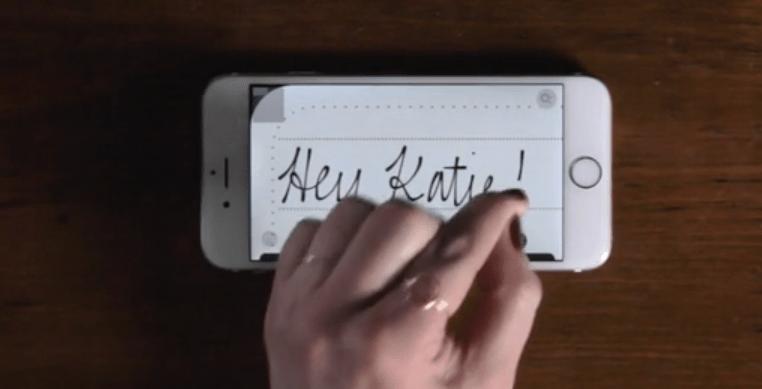 Felt App: Military care package handwritten cards